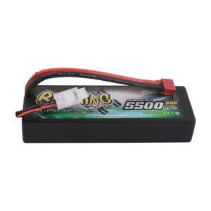 Especificaciones. - Tipo de producto: paquete de baterías lipo - Capacidad: 5500 mAh - Voltaje: 7.4V - Descarga continua máxima: 50C - Peso: 248 g - Dimensiones: 139 * 48 * 24 mm - Enchufe de equilibrio: JST-XHR - Enchufe de descarga: enchufe en T