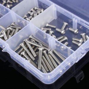Kits de tornillos 170 piezas M2 ISO7380 Cabeza Allen Botón 4/ 6/8/10/12/14/16mm