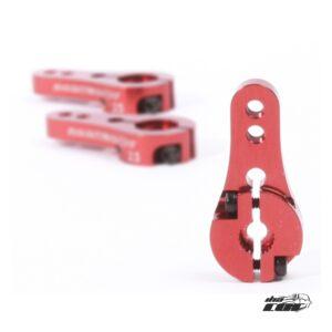 Robitronic Brazo de Servo Alu 24Z Rojo Corto