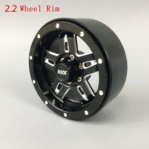 """Juego de llantas KYX 1/10 Aluminio CNC 2.2"""" (4 piezas)"""