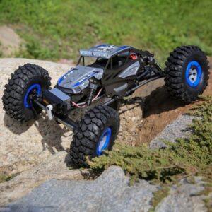 mejor oferta ECX Temper 2.0 1 18 Rock Crawler 4WD RTR AZUL amortiguación
